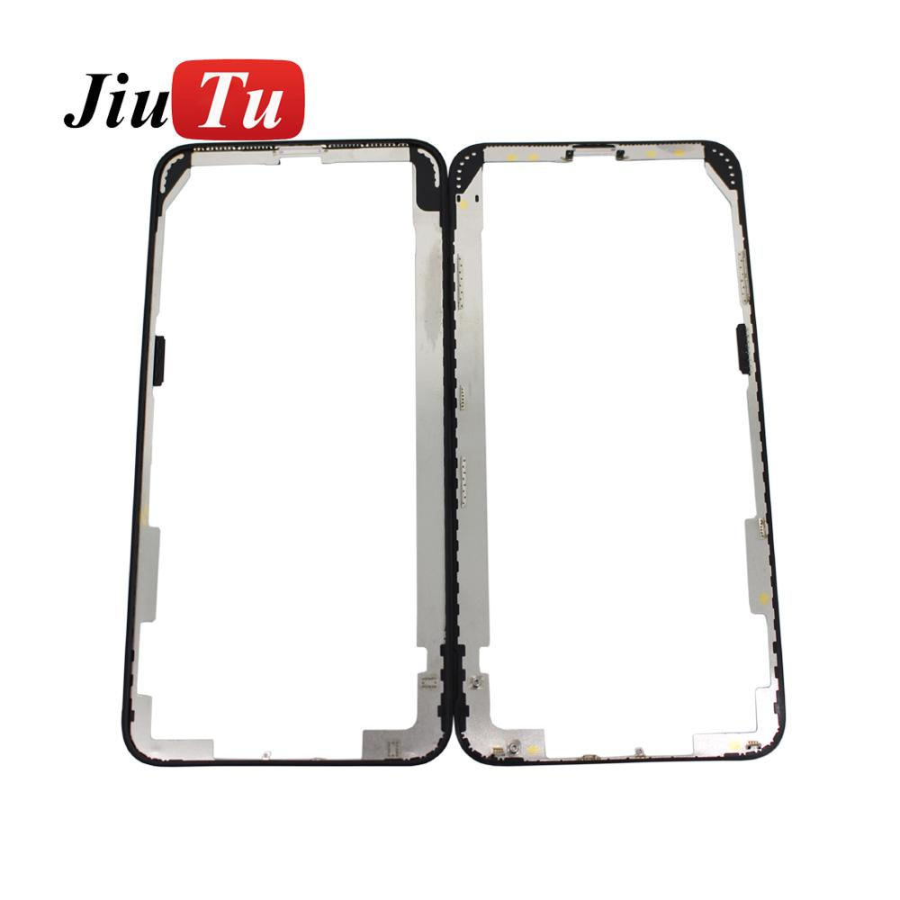 Original Middle Frame Bezel LCD Touch Screen Front Bezel Housing For iPhone XS Max Cracked LCD Repair Fix JiuTu