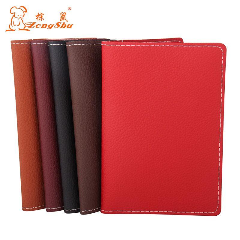 2c0c3bc5533a New Litchi pattern Genuine Leather Passport Cover Men Travel Passport  Holder Card Case Man Card High Quality