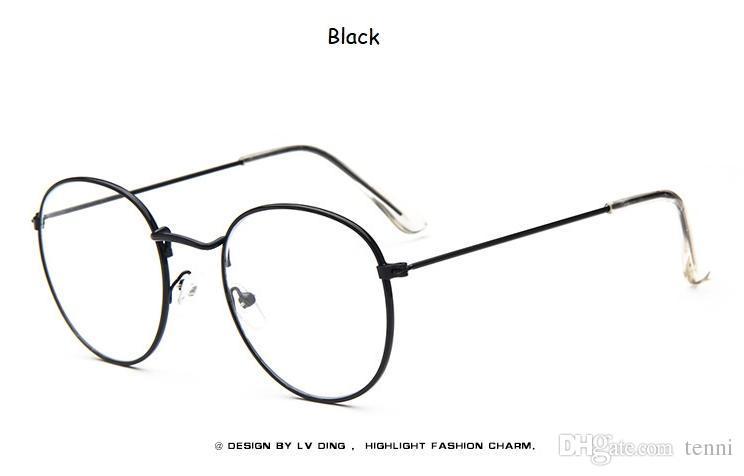 5dfd88f8f1 Compre Gafas De Mujer Marcos Ópticos Gafas Redondas De Metal Montura De Lentes  Transparentes Gafas Negro Plata Oro Ojo S1702 A $35.73 Del Tenni |  DHgate.Com