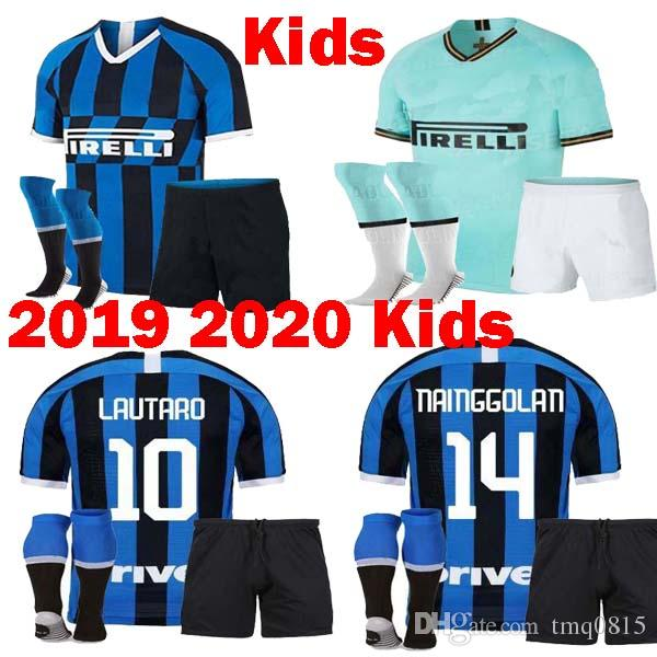best authentic 7c919 d8c40 Kids 2019 2020 Inter 20th Anniversary Mashup Milan Soccer Jerseys 19 20  Child kit maillot LAUTARO ZANETTI NAINGGOLAN PERISIC Football Shirts