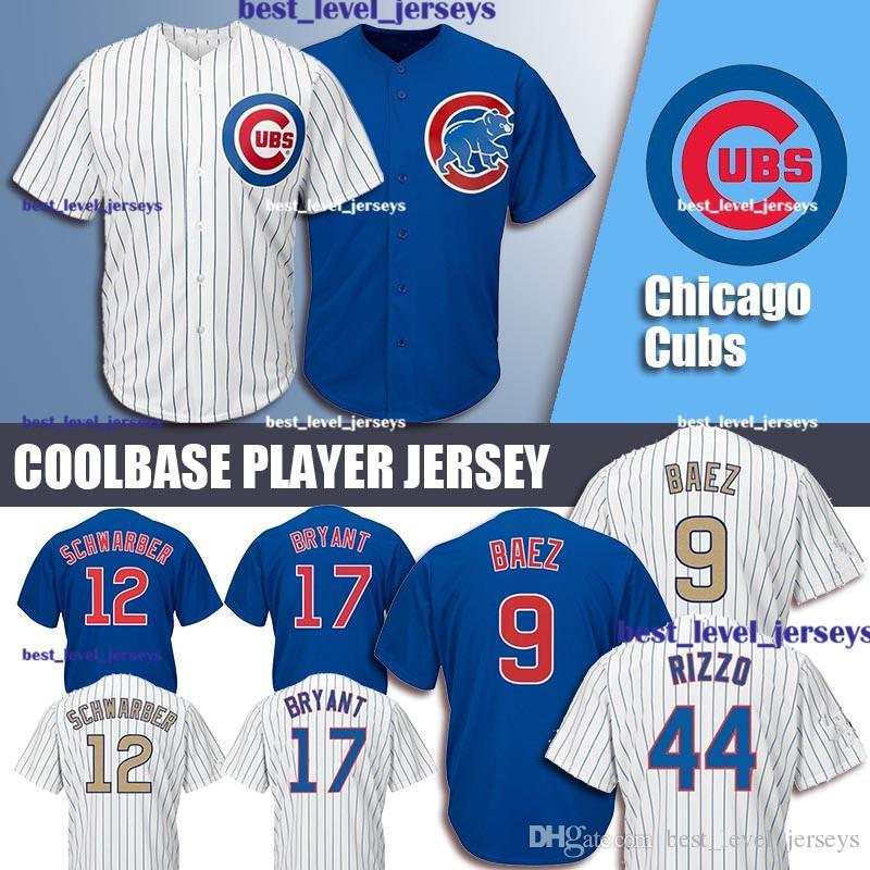 e55267a36 2019 Cubs Jersey 9 Javier Baez Jersey 12 Kyle Schwarber 23 Ryne ...