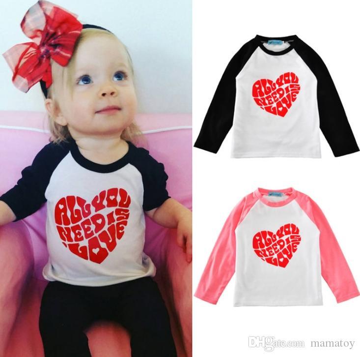 Girls Valentine S Day Heart T Shirt Long Sleeve 100 Cotton Girls
