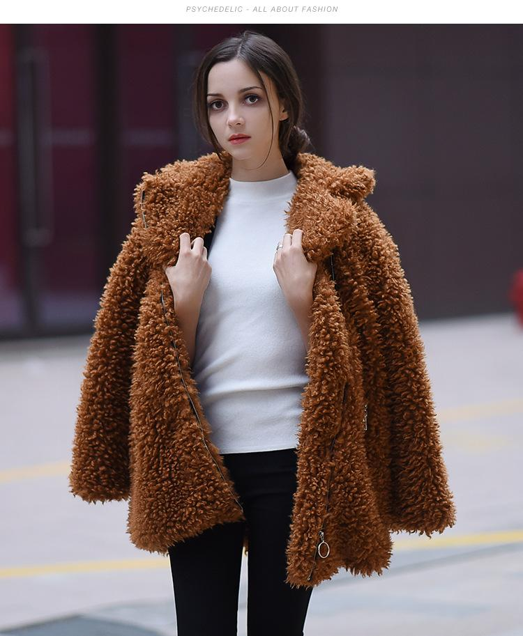 77432ade2 2019 New Fashion Furry Overcoat Woman 2018 Autumn And Winter Clothes Plus  Cashmere Warm Sheep Shredded Wool Faux Fur Coat From Xiatian4, $84.65 |  DHgate.Com