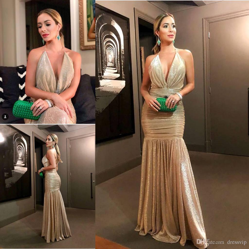 Backless Sparkly Elegant Dress
