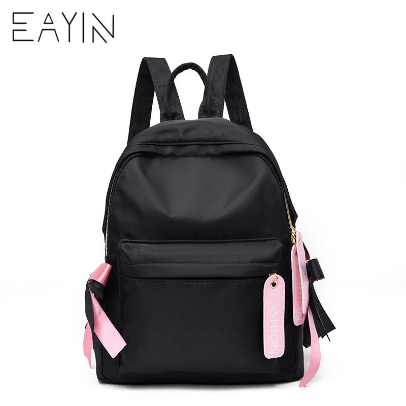 e46165cd25c4 EAYIN Casual Girls Book Bags Women School Bags Sweet Canvas Backpacks For Teenager  Girls Solid Color Shoulder For Young School Bags Messenger Bags From ...