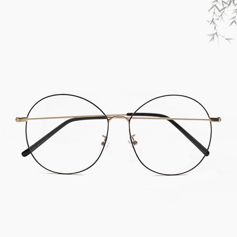 b697efc26a84 2019 New Designer Glasses Optical Frames Metal Round Glasses Frame Clear  Lens Eyeware Black Silver Gold Eye Glass Unisex From Taihangshan