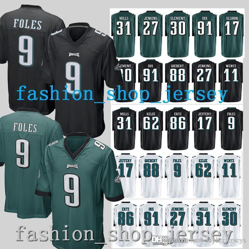the latest 2c748 db498 Eagles jersey Philadelphia jerseys 17 Alshon Jeffery jersey 91 Fletcher Cox  86 Zach Ertz 88 Dallas Goedert 20 Brian Dawkins