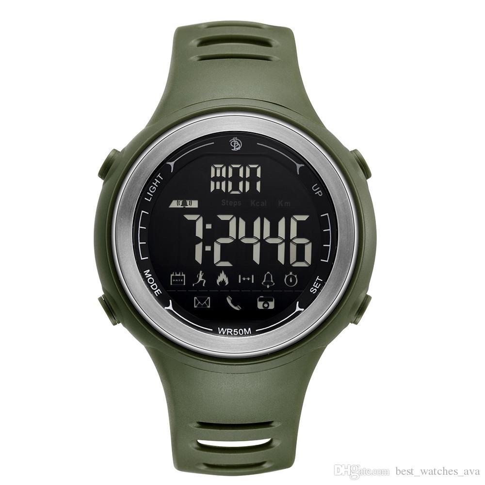 74f775834cca Compre Relojes Inteligentes Para Hombres Reloj Analógico Digital Luminoso  Compatible IPhone Android Teléfono Móvil Inteligente Hombres Correa De  Caucho ...