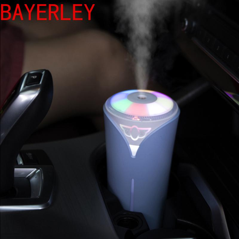 Creative Car Essential Oil Diffuser Mini Ultrasonic Colorful humidifier LED Light USB Fogger for Office Home