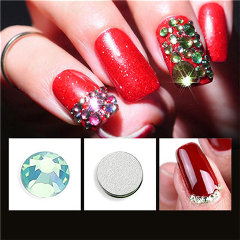 Nail Art Rhinestones decorations 3D Mix Glitters Colorful Acrylic Manicure DIY Tips Stickers Colorful Crystal Glass Gems DIY