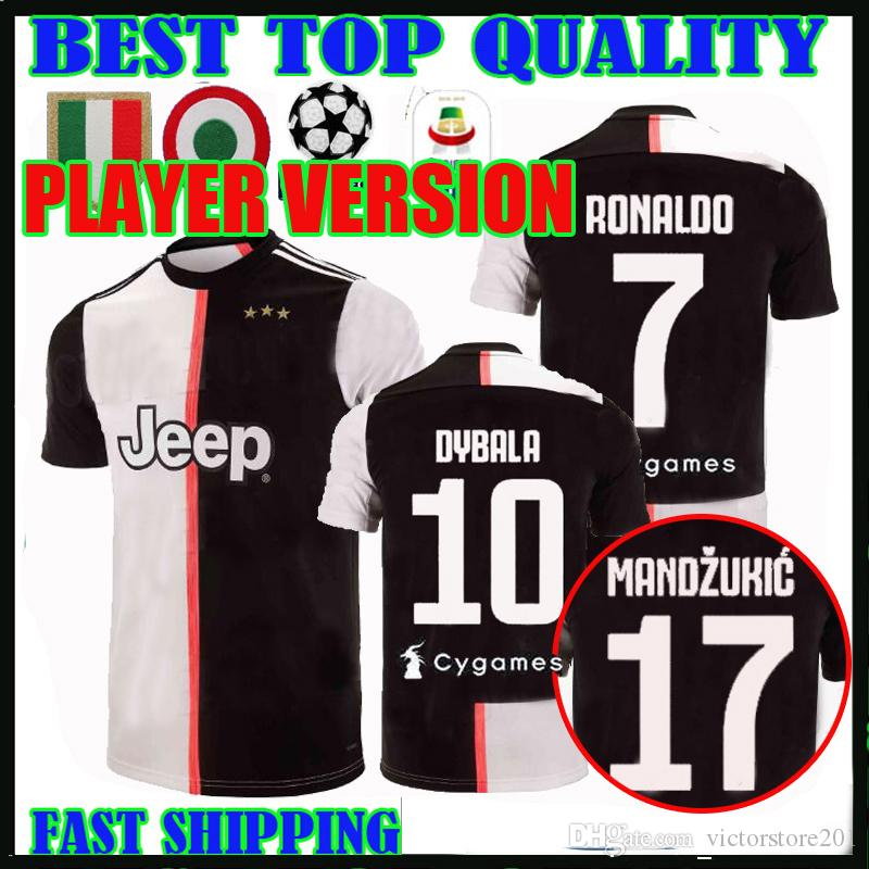 16321019a 2019 PLAYER VERSION 19 20 RONALDO Juventus Soccer Jerseys DYBALA 2019 2020  Home MANDZUKIC Bonucci MATUIDI D.COSTA Football Shirts JUVE Thailand From  ...