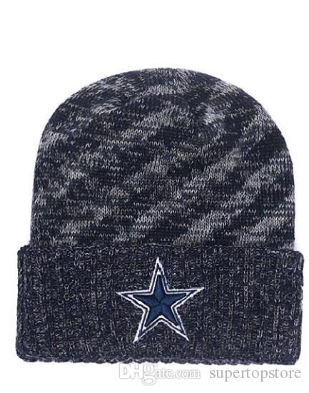 cfe99915f3cdc2 2019 New Arrival Fashion Fans Foot Ball Beanies Winter Dallas Casual Warm  Skullies Beanie Hats Sport Team Cowboys Cuffed Knit Caps Straw Hats Crochet  Hat ...