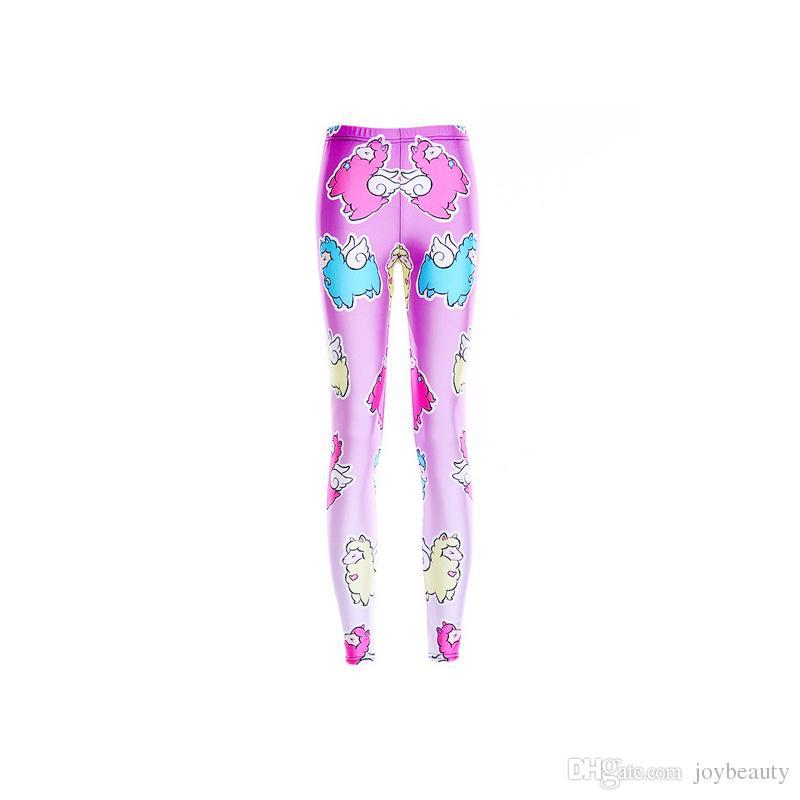 e76b1d7b41e75 2019 Lady Leggings Sheep 3D Graphic Full Print Comfortable Yoga Wear Pants  Girl Elastic Waist Band Trousers Woman Skinny Gym Jeggings RLLgs3524 From  ...