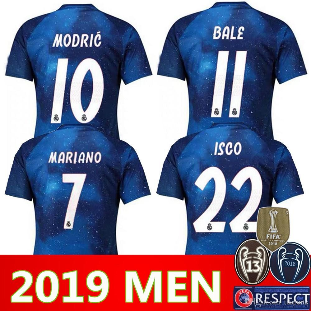 outlet store c8f1e 41049 2019 Real Madrid Limited Edition soccer Jersey Blue EA Sports Jerseys #12  MARCELO #10 MODRIC Real Madrid special version football Shirts