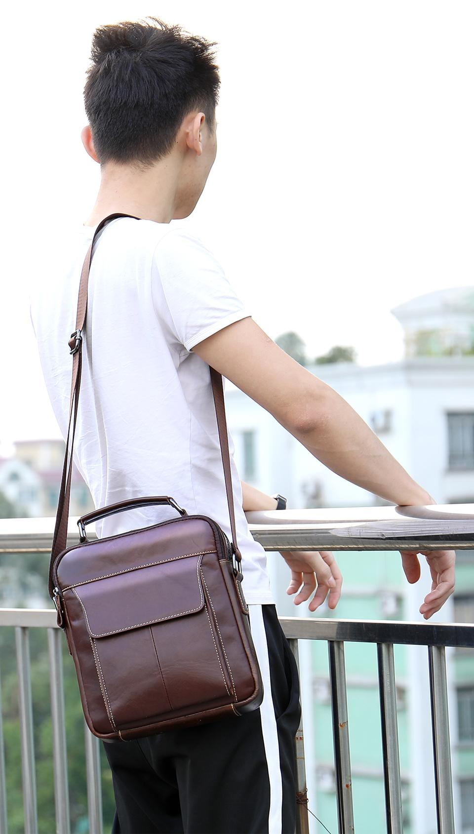 WESTAL Messenger Bag Men Shoulder bag Genuine Leather Small male Crossbody bags for Messenger men Leather belt bags Handbags 369