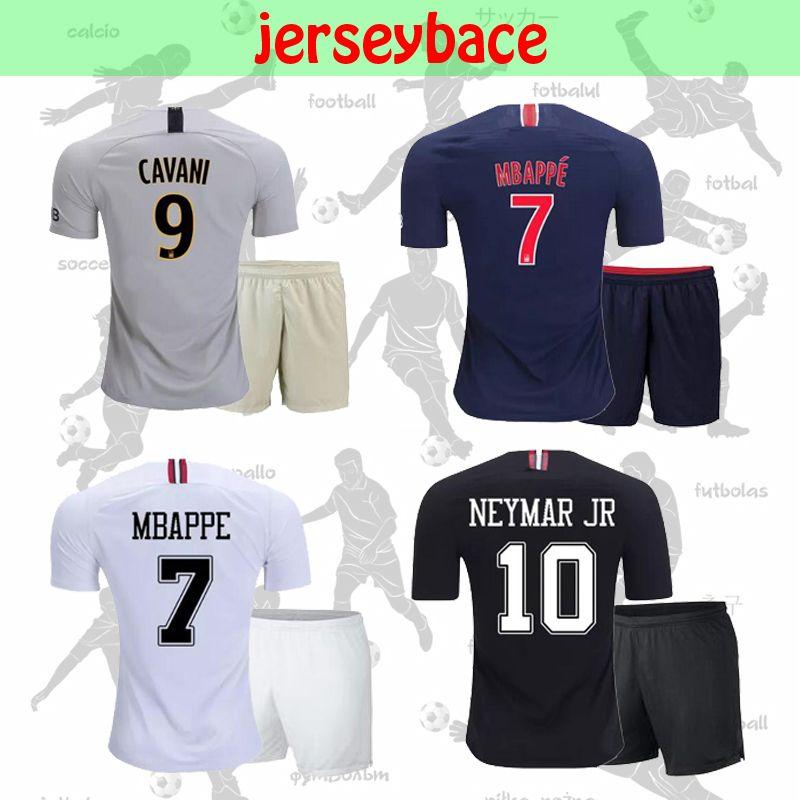 ecfd5b3e5 New 18 19 NEYMAR JR Soccer Jersey Kids Kit MBAPPE PSG Home Away Di ...