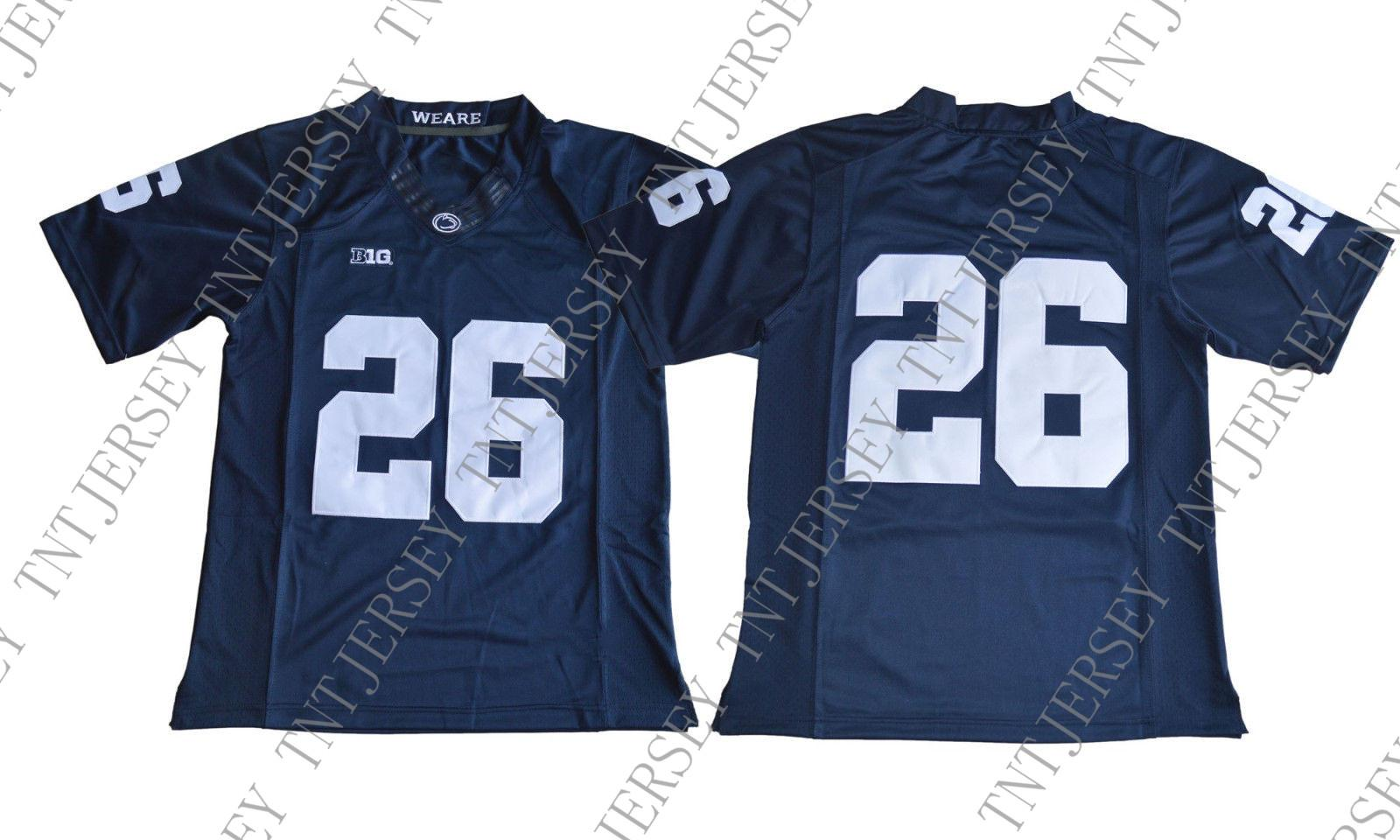 separation shoes 1d331 cbaf4 Cheap custom 2018 Draft No.2 Saquon Barkley 26 College Football Jersey -  Blue Stitched Customize any number name MEN WOMEN YOUTH XS-5XL