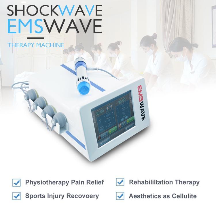 5 transmissores de ondas de choque 2.000.000 tiros portátil de tratamento de terapia de ondas de choque ED juntas músculo alívio da dor aparelho de estimulação EMSWAVE