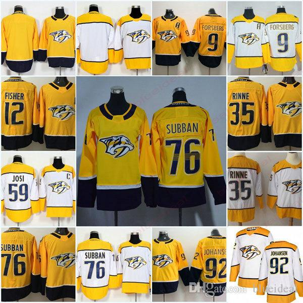 timeless design 65110 b3785 Mens Women Kids Nashville Predators Hockey 76 PK Subban 59 Roman Josi 9  Filip Forsberg 35 Pekka Rinne Jerseys Accept Customize name number