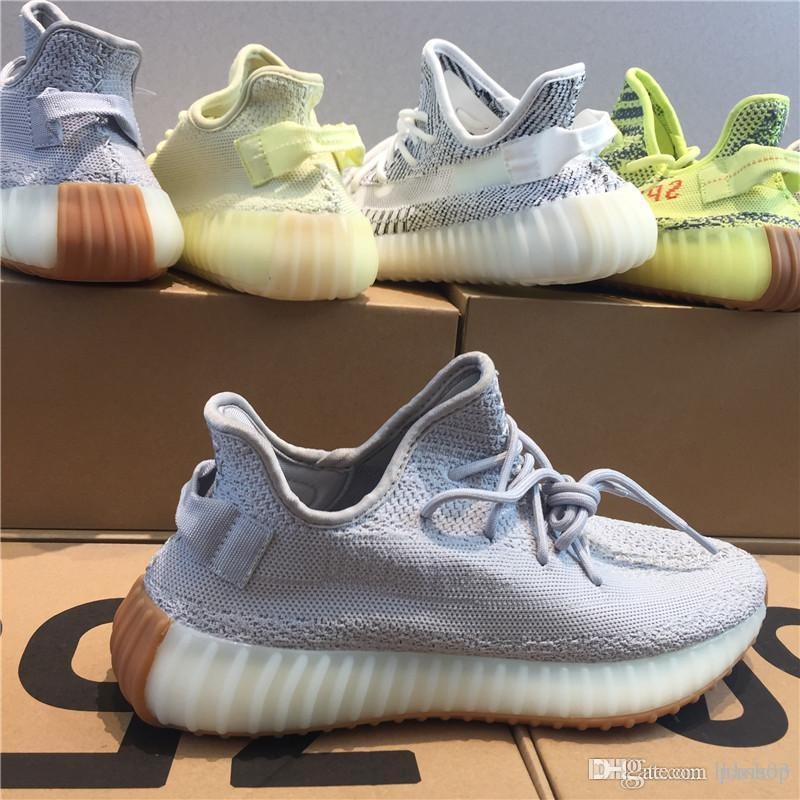 adidas yeezy 350 V2 off white boost sneakers 2018 Sesambutter eisgelb 36 46 v2 Designerschuhe Blautönung V2 Sply Black 350 Herren Damen Laufschuhe