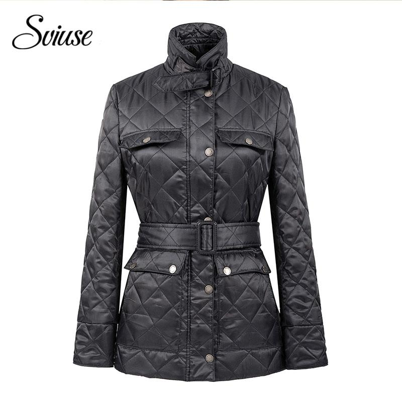 Women Navy Slim Fashion Parkas Winter Black Jackets Coats Zipper Pocket Cotton Wadded Laidies Casual Overcoat female Winter