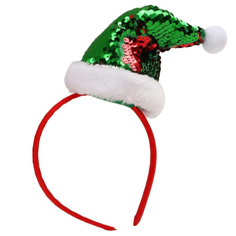 Faroot Noël Coiffe Bandeau cheveux Band Glitter Sequin Costume Accessoires cheveux Hoop Couvre-chef pour Holiday Party Carnaval