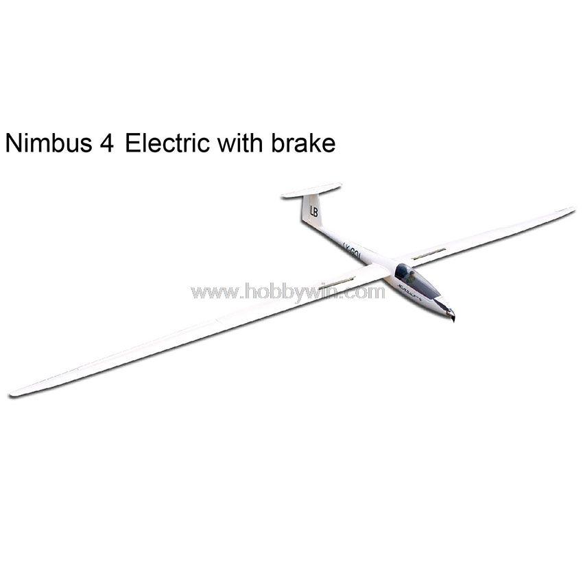 Nimbus 4000mm Electric Glider with brake Retract Motor Propeller Spinner  Esc Servo RC Model Fiberglass Sailplane