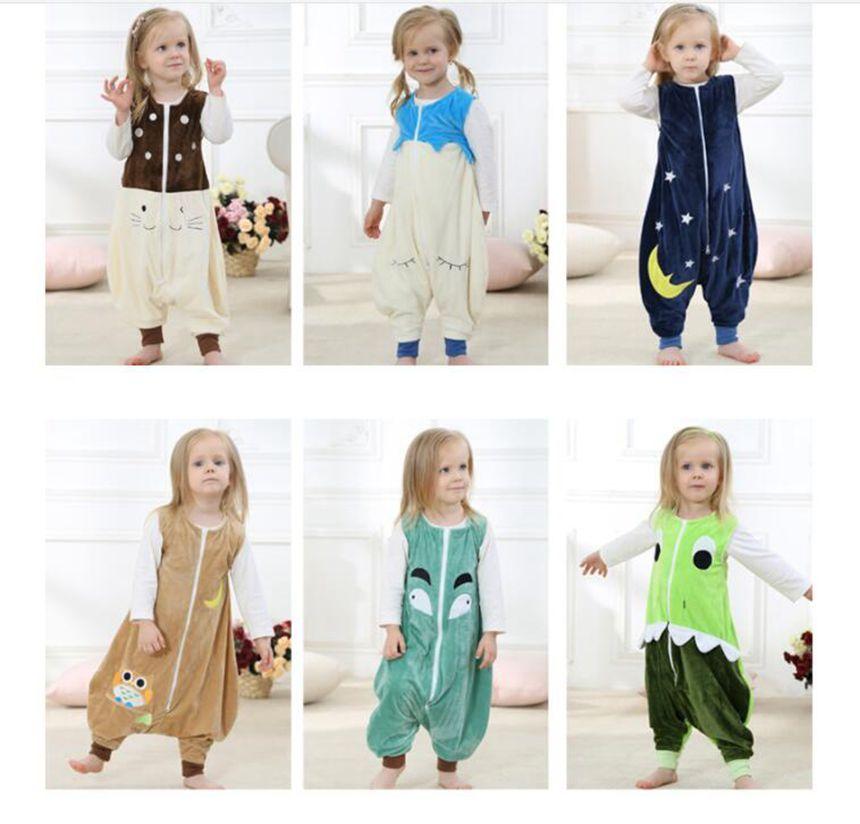 de239e9a3 Compre Bebé Invierno Pijamas Ins Bolsa De Dormir Niños Sin Mangas Trajes De  Dormir De Invierno Ropa De Dormir Manta Mameluco Mono KKA6391 A  10.97 Del  ...