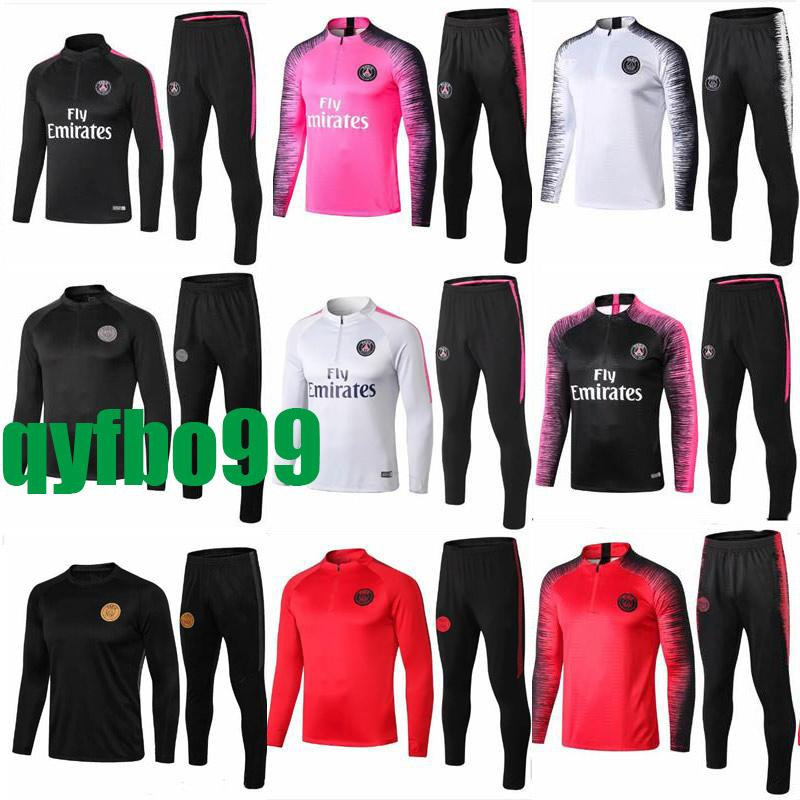 7cf272855 2019 PSG Pink Tracksuit Marseilles Paris Soccer Training Suit Real Madrid  Tracksuits 2018 2019 MBAPPE LUCAS Maillot De Foot Jacket Kit From Qyfbo99