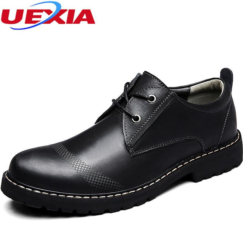 73b5baebc05 UEXIA Dress Shoe Men Black Formal Oxford Fashion Round Toe Casual Men Shoes  Comfortable Office Business Platform Oxford Footwear Mens Boots Shoe From  Ycqz4
