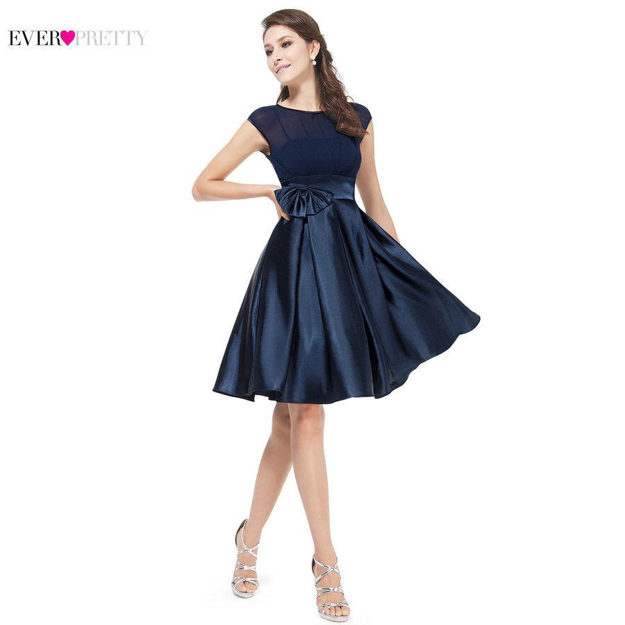 ede132b21f Navy Blue Cocktail Dresses Ever Pretty 6113 Cute Women 2018 Sleeveless  Short Vestidos Plus Size Sexy Homecoming Cocktail Dresses