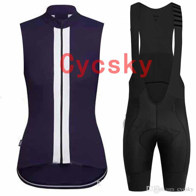 pantaloncini in jersey senza maniche in jersey rapha New Cycling Nero Abbigliamento da montagna Fllower Quick Dry Cycling Set