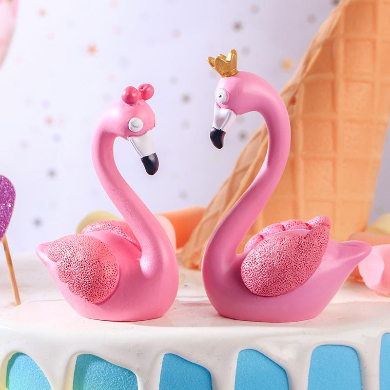 2019 Wedding Birthday Party Cake Home Decoration Crafts Nordic Pink Flamingo Swan Queen King Crown Table Ornament From Tim2012