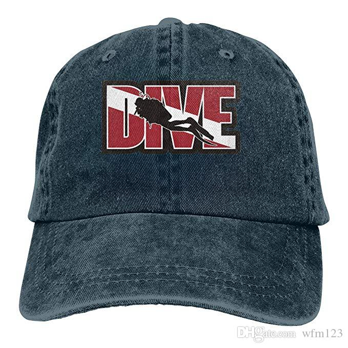 2019 New Custom Baseball Caps Print Hat Scuba Diver Logo Mens Cotton  Adjustable Washed Twill Baseball Cap Hat Caps Online Hats And Caps From  Wfm123 3aee6480931