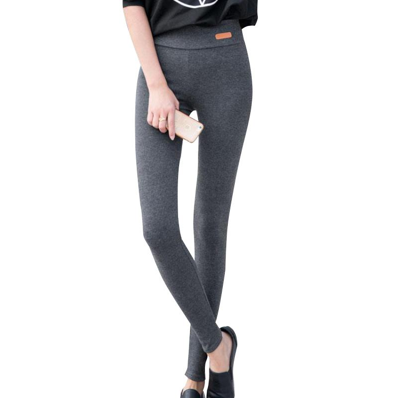 New Fashion High Elastic Waist Winter Plus Thicken Women's Leggings Warm Pants Good Quality Thick Trousers Female Q190509