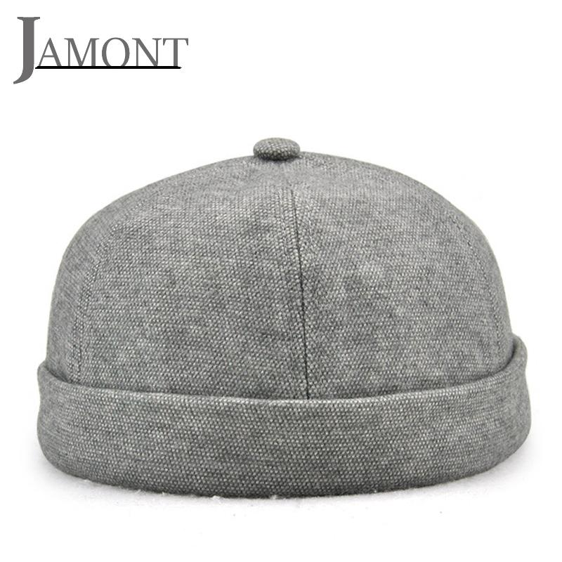 38f4f219 2019 JAMONT Round Hat Street Melon Hat Rolled Cuff Retro Landlord Caps Men  Women Cotton Beanie Flange Hip Hop Cap Guava Caps Foldable From  Yangmeijune, ...