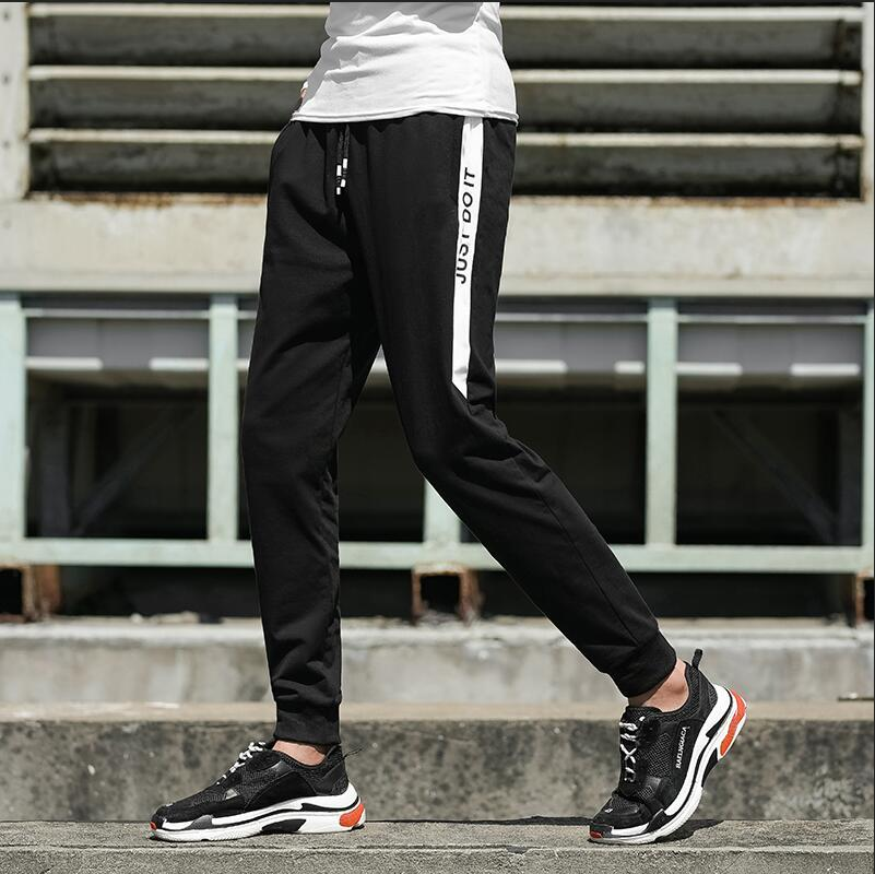 7a5e0b9e07fb30 Mens Designer Pants Fashion Brand Joggers With Letters Elastic Waist ...
