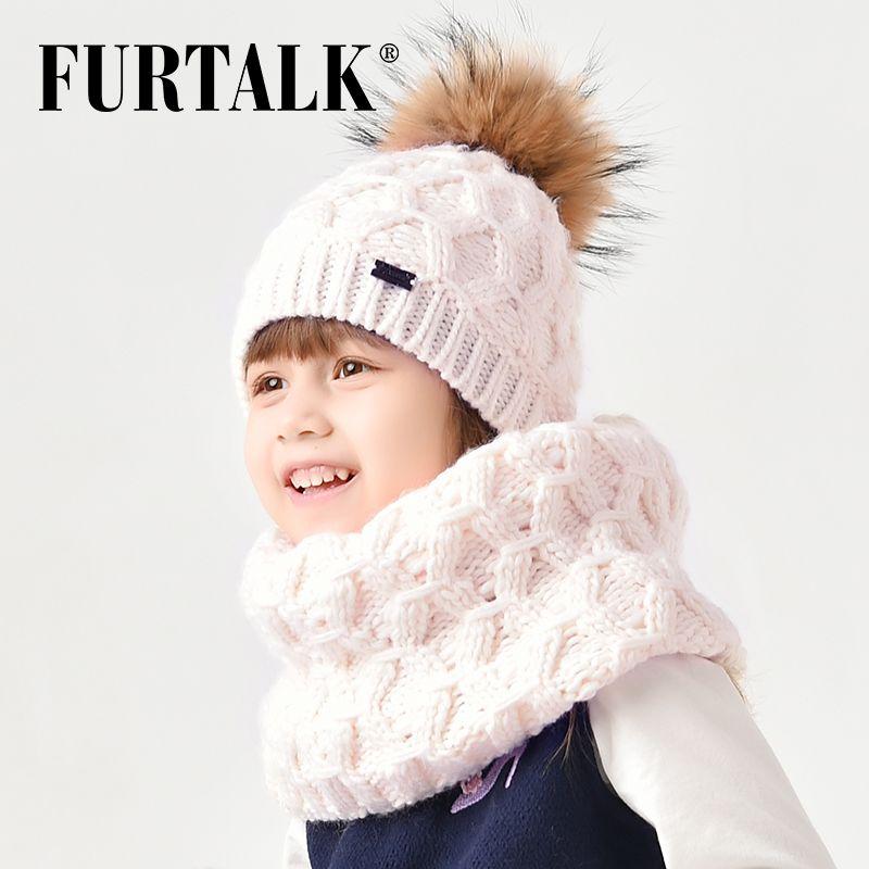 57ed0ea3008b FURTALK 2 8 Years Wool Child Winter Hat Scarf Set For Girls And Boys ...