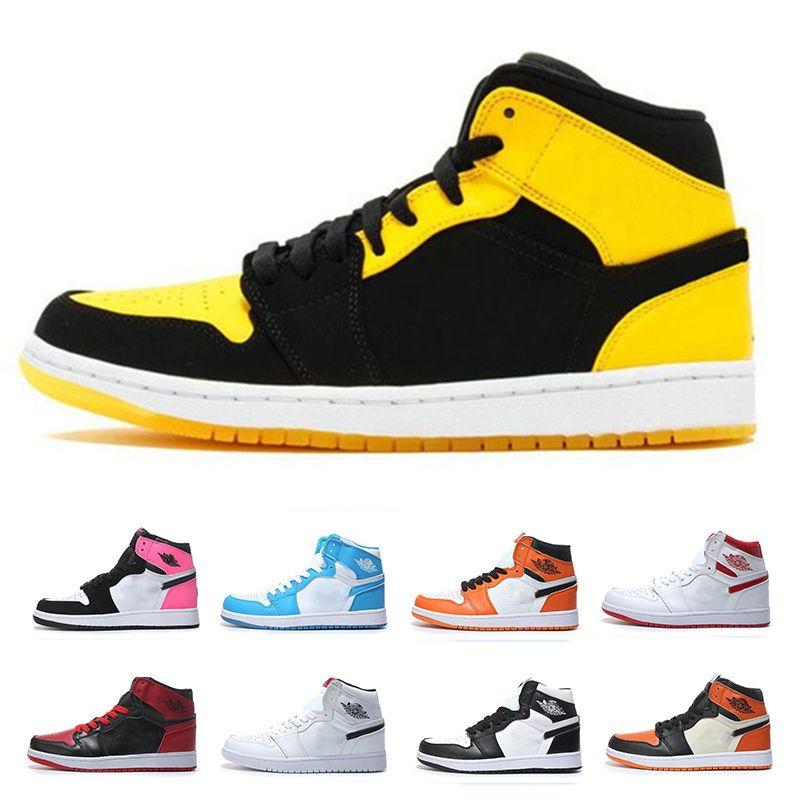 95b99f3f237 Compre Dunk 1s Zapatillas De Baloncesto Para Hombre Trigo Dorado Bred Toe  Chicago Prohibido Royal Blue Fragment UNC Rebel Sneakers Zapatillas  Deportivas ...