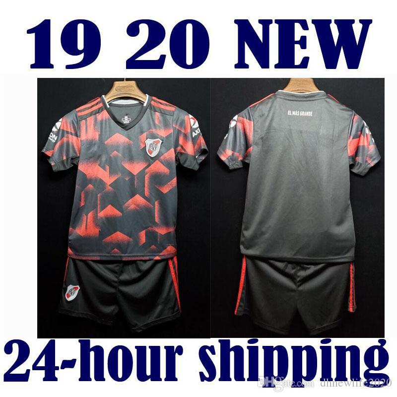 d3de4d7272f 2019 Kids Boy Kit Third Away 2019 River Plate Soccer Jersey 19 20 Riverbed River  Plate Home Soccer Shirt 2020 Customized Football Uniform Sales From ...