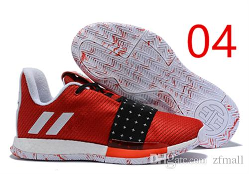 9d2b8ca9172 3 MVP Basketball Shoes Men Red Grey Black James Harden 3s III Outdoor  Trainers Sports Running Shoes Zfmall From Zfmall