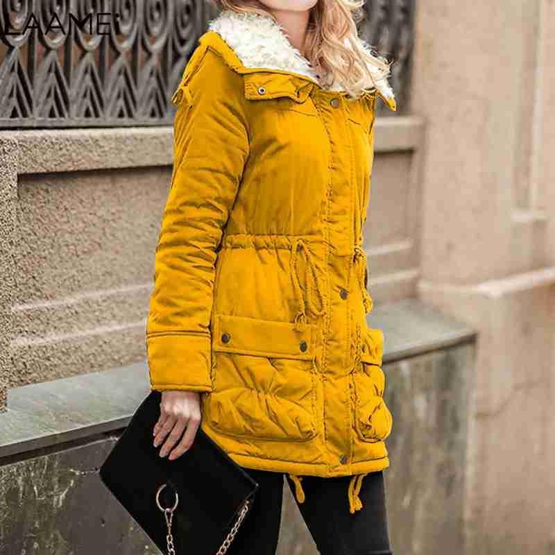 67b436f8a Laamei Women Winter Jacket Coat Thick Cotton Warm Jacket Womens Outwear  Parkas Plus Size Fur Coat 2018 New Long Parkas Female