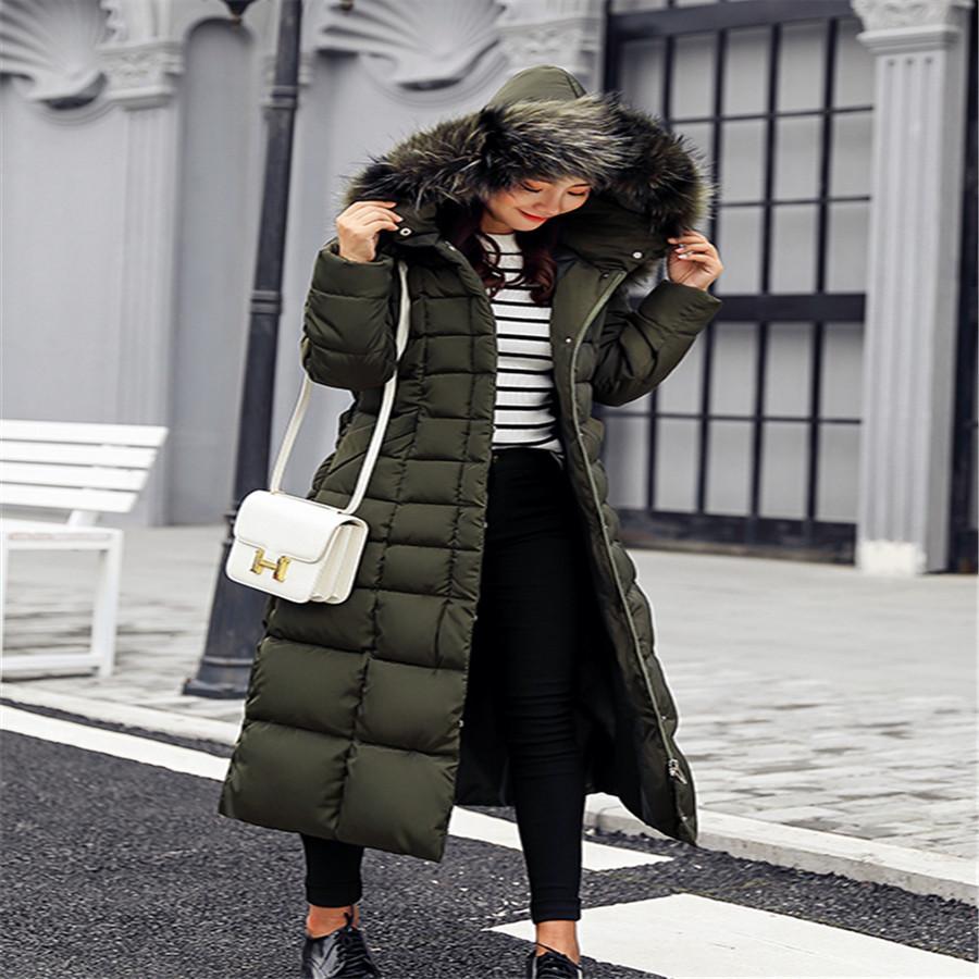 1a4e1be35d8 2019 Women s Winter Jacket Fur Collar Hooded Down Cotton Women s ...