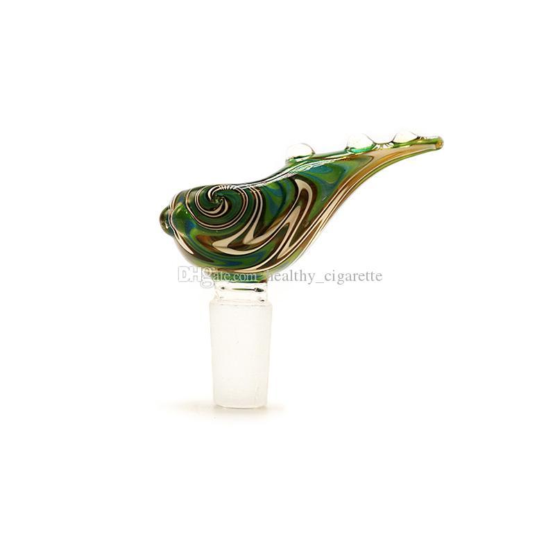 새로운 디자인 유리 그릇 쉘 컬러 유리 그릇 남성 보울 14mm의 18mm 조인트 용 유리 물 파이프 물 기억 만