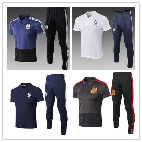 d46d931ca30 2019 2018 2019 MESSI RONALDO MBAPPE Short Sleeve Polo Shirt Soccer Training  Suit 18/19 FR Spain Argentina Football Shirt Kit From Neymarsoccerstore, ...
