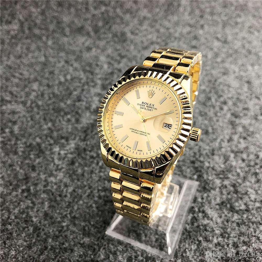 34fa7e08409 Compre Senhoras Da Moda Relógio De Luxo Relógio Feminino Cinta De Aço  Inoxidável Calendário Montre Femme 2018 Relógio De Quartzo Das Senhoras  Relogio ...