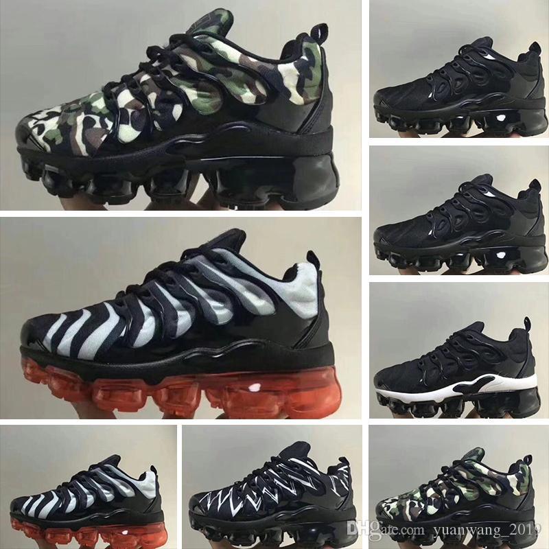 nike TN plus air max airmax vapormax 2018 Chaussures New Kids Tn Plus Zapatillas para correr Bebés niños grandes niñas Camo Zapatillas deportivas Run