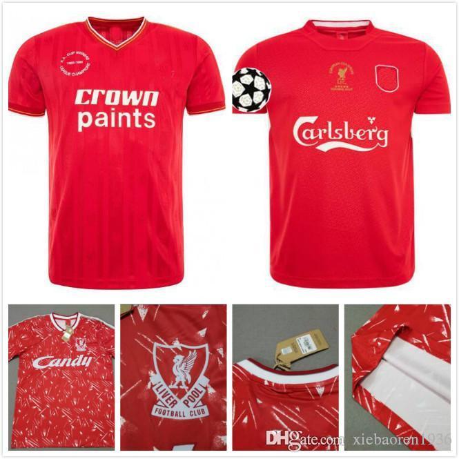 85 86 89 91 04 05 Champions League Finale Istanbul 2005 1985 1986 1989 1991 Fußball Trikots Retro Alonso Smicer Gerrard Fußball Trikot 2X