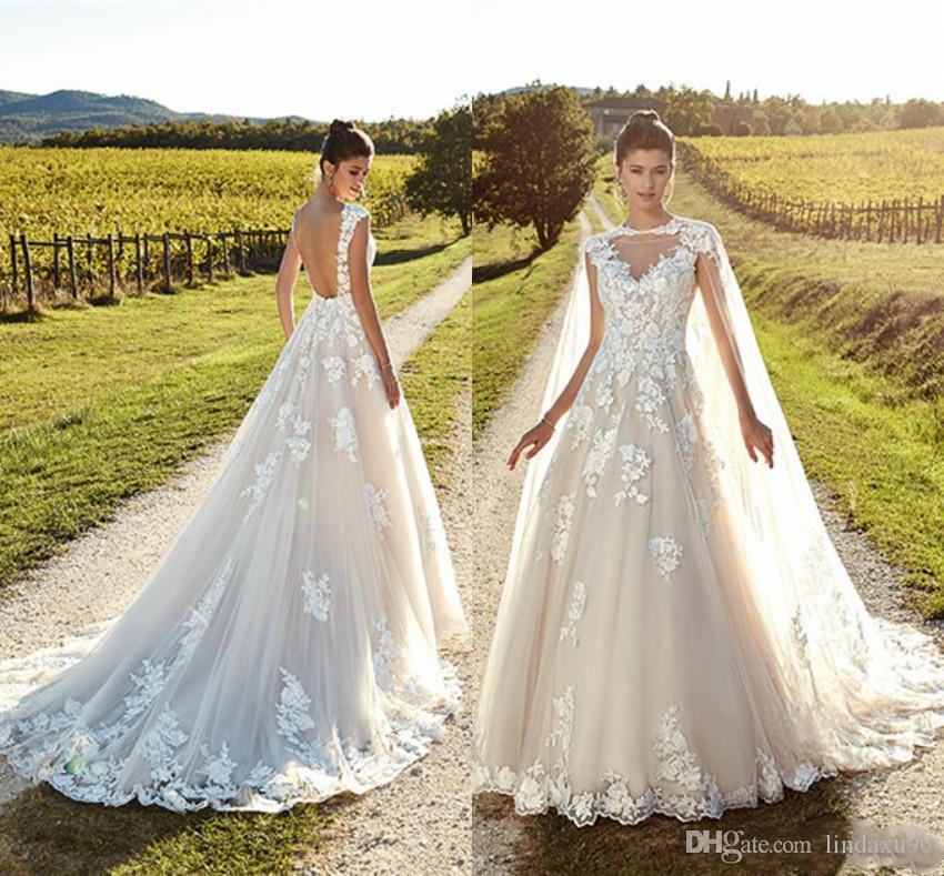 8f23557df552 Discount Bohemian Beach Wedding Dresses With Cape Eddy K 2019 Boho Ivory  Lace Wedding Dress Bridal Gowns Vestido De Novia Lace Bridal Dresses Latest  Wedding ...