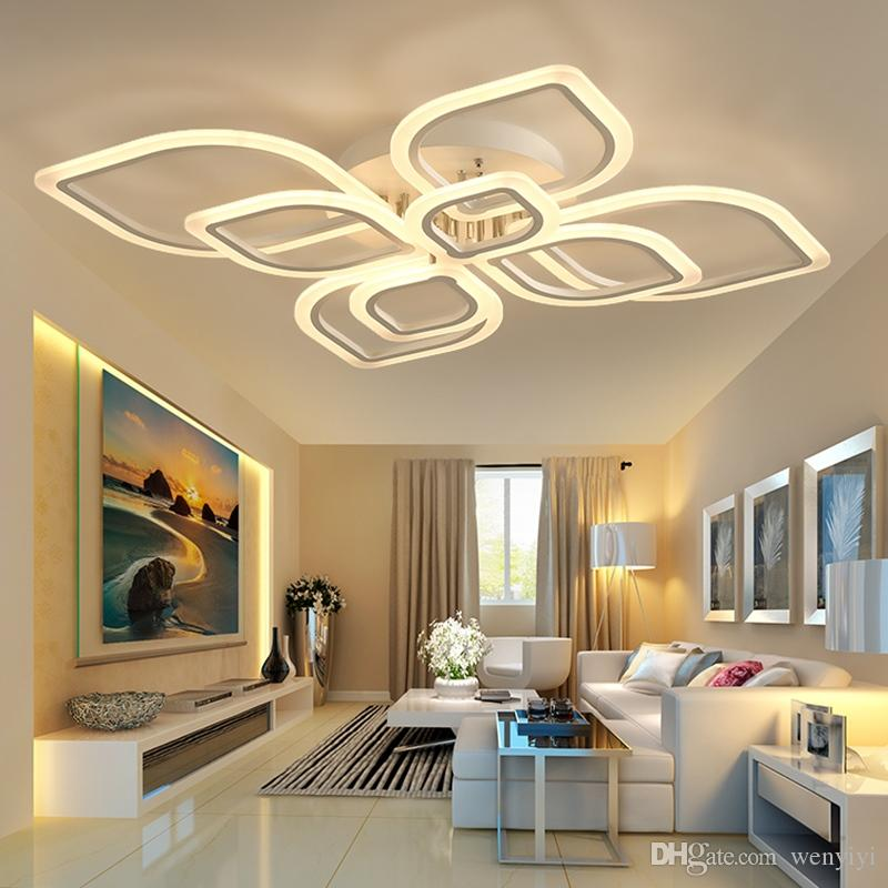 DHgate.com & modern led chandeliers for living room bedroom dining room acrylic Indoor home ceiling chandelier lamp lighting fixtures